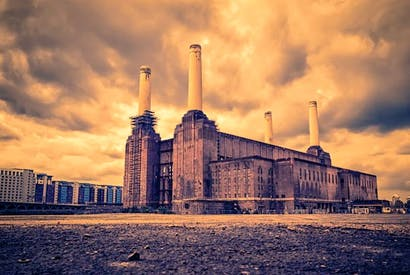 Gilbert Scott's Battersea Power Station, about to be transformed into a hotel, flats, offices and entertainment area