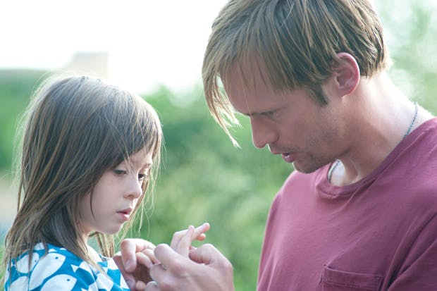 Utterly natural: Onata Aprile and Alexander Skarsgård in 'What Maisie Knew'