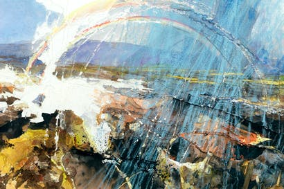 Burn Moor (Double Rainbow)', 2013, by David Tress