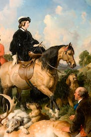 Landseer's portrait of Queen Victoria riding in Windsor Home Park four years after the death of Prince Albert