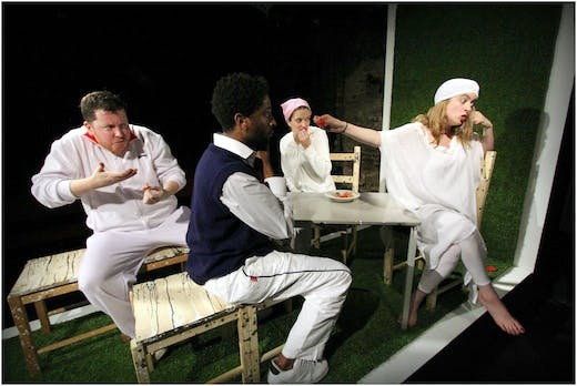 Opera3_Two Caravans - Adam Torrance, Peter Brathwaite, Sylvie Gallant, Rosie Middleton - photo by Robert Piwko