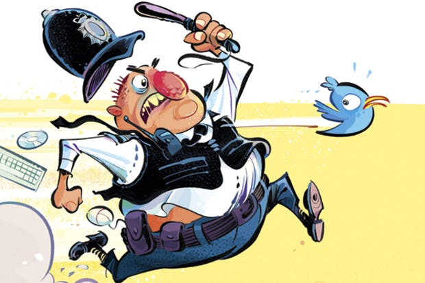 Image result for Cartoons of an over zealous policeman