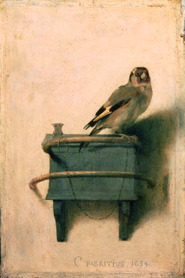 'The Goldfinch' by Carl Fabritius, the theft of which is central to Donna Tartt's new novel