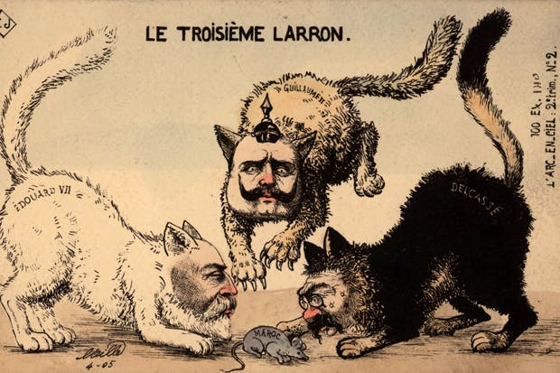 Cat fight: tension mounts between the Great Powers in 1905 as Edward VII, Kaiser Wilhelm II and the French foreign minister, Théophile Delcassé, squabble over Morocco