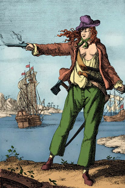 According to legend, the cross-dressing 18th-century Irishwoman Mary Read outdid her fellow male pirates when it came to pure violence