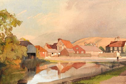 'The Pond, Ditchling' by Charles Knight - © Ditchling Museum Art + Craft