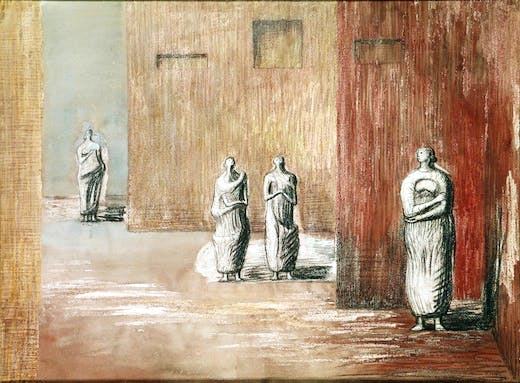 Four Figures in a Setting (c) The Henry Moore Foundation