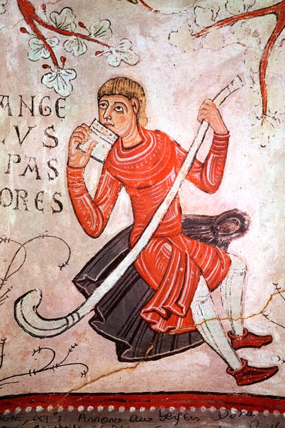 Wall-painting in San Isidoro of a shepherd