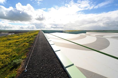 On top of the Victorian desalination plant, the largest 'green roof' in the southern hemisphere