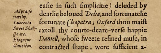 'Our de Vere - a secret'? Is this an encrypted allusion by William Covell to Shakespeare from Polimanteia (1595)