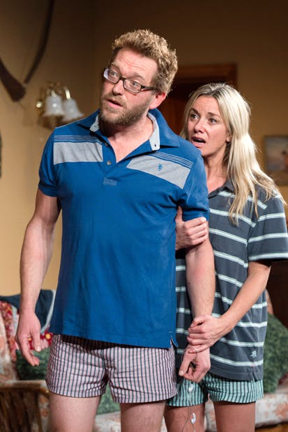 Terrific: Barnaby Kay (Keith) and Tamzin Outhwaite (Briony)