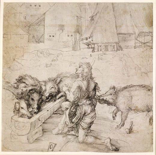 5. Courtauld Dürer - The Prodigal Son BM