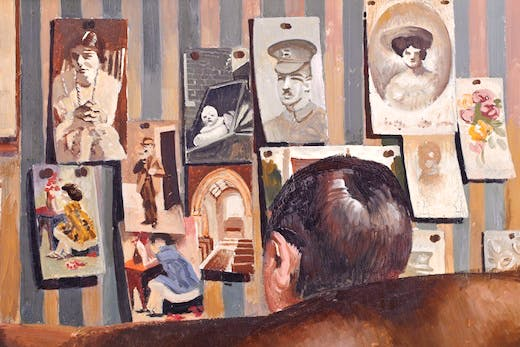 Detail from BEDMAKING by Stanley Spencer (1891- 1959) on the south wall at Sandham Memorial Chapel, Burghclere, Hampshire.
