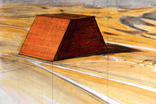 A drawing for the Abu Dhabi Mastaba (Picture: Christo)