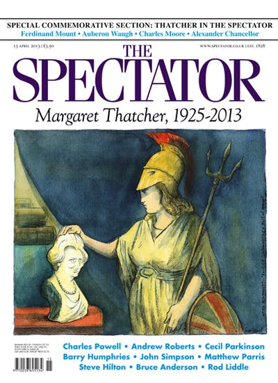 Nick Garland's take on the Thatcher legacy in the 13 April issue