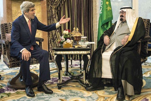 US Secretary of State John Kerry meets with Saudi Arabia's King Abdullah bin Abdulaziz al-Saud Photo: Getty