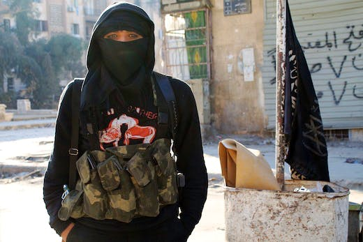 A member of jihadist group Al-Nusra in the northern Syrian city of Aleppo Photo: AFP/Getty