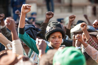 Fallen angel: Naomie Harris as Winnie Madikizela-Mandela