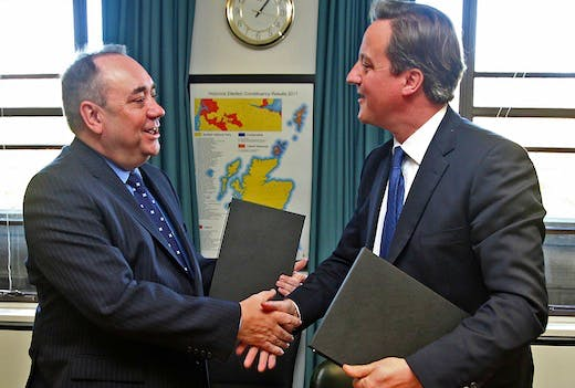 Prime Minister David Cameron And Scottish First Minister Alex Salmond Meet To Set Out Independence Referendum Deal