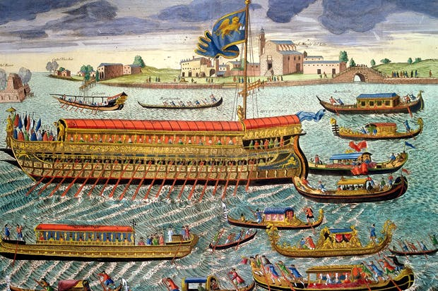 The great Ascension Day pageant of the Doge performing the marriage of the sea — already a tourist attraction in 17th-century Venice.