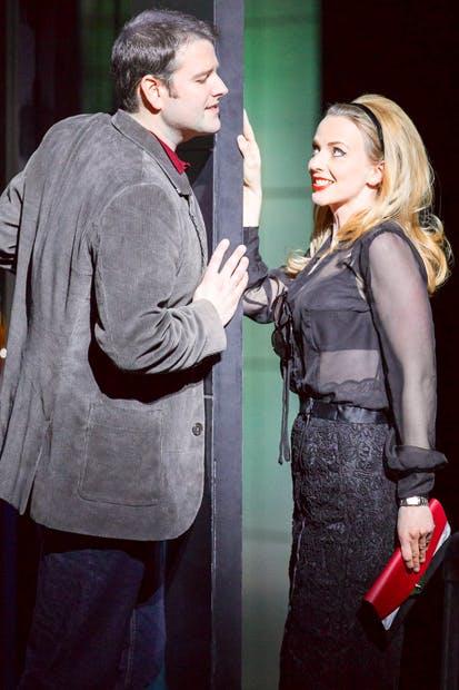 Smitten: Jason Bridges (Armand) and Sarah Tynan (Manon) in 'Boulevard Solitude'
