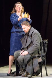 Kelly Cae Hogan (Lady Macbeth) and Béla Perencz (Macbeth)
