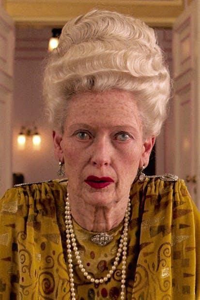 Insanely rich but unrecognisable: Tilda Swinton as Madame D