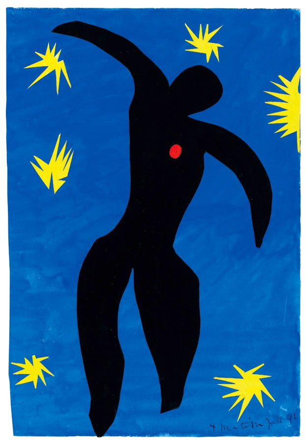 'Icarus', 1943, by Henri Matisse, maquette for plate VIII of 'Jazz', 1947