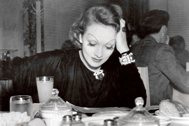 Marlene Dietrich in the Paramount canteen