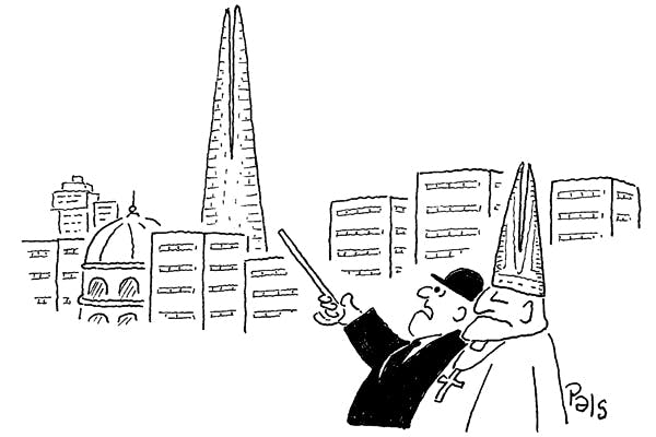 'That Shard is a monstrosity, don't you think?'