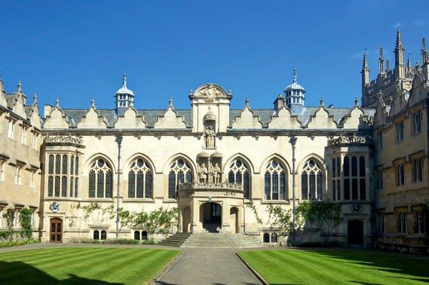 Front quad of Oriel College, Oxford