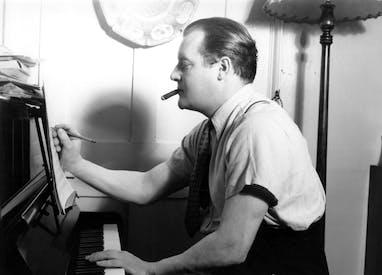 Constant Lambert at the piano
