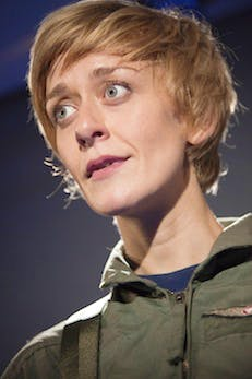 GROUNDED. Gate Theatre. Lucy Ellinson as The Pilot. Photo credit Iona Firouzabadi -  (4)
