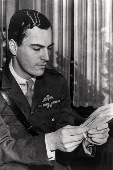 Patrick Leigh Fermor as a major in the parachute regiment, October 1945