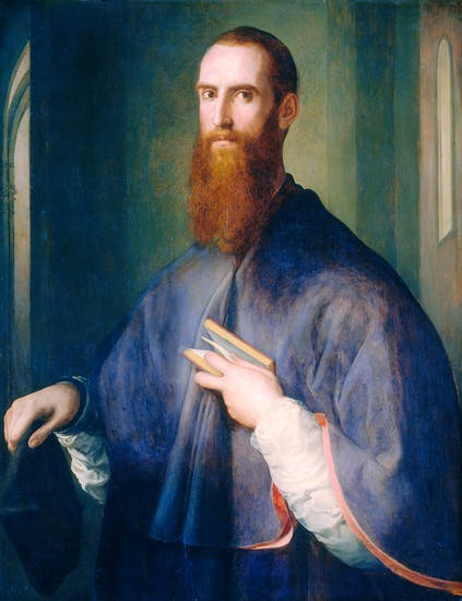 'Portrait of a Bishop', c.1541–2, by Jacopo Carrucci, known as Pontormo