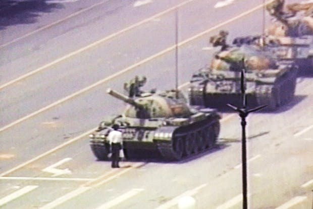 The lone demonstrator who stood down a column of tanks in Tiananmen Square on 5 June 1989 was dubbed 'Tank Man' or the 'Unknown Rebel'. Though the image achieved worldwide fame, neither the man's name nor his fate has ever come to light