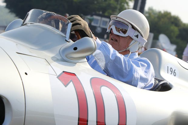 Stirling Moss at last year's Goodwood