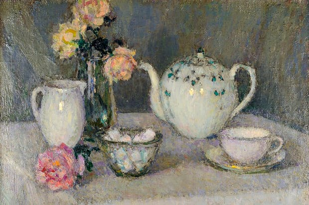 'The Tea Table', 1938, by Henri Le Sidaner