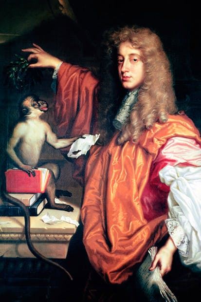 Portrait of John Wilmot, Earl of Rochester, with his pet monkey, attributed to Jacob Huysmans