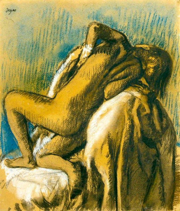 'After the Bath (Le repos après bain)', 1897, by Edgar Degas, at Stephen Ongpin