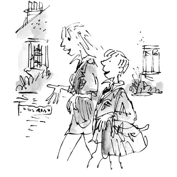 Blake's Illustration from 'The Boy in the Dress' by David Walliams