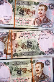 Saddam on money