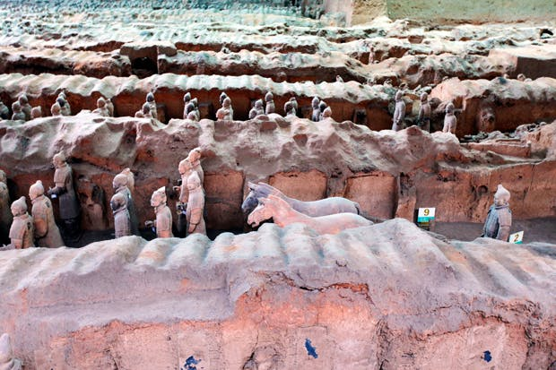 The Terracotta Army Museum: the warriors were built to protect Quin Shi Huuang, China's first emperor