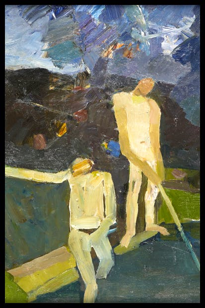 'Figures by a Pool', 1972, by Keith Vaughan