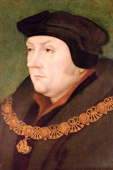 Portrait of Thomas Cromwell wearing 'the George', by Hans Holbein