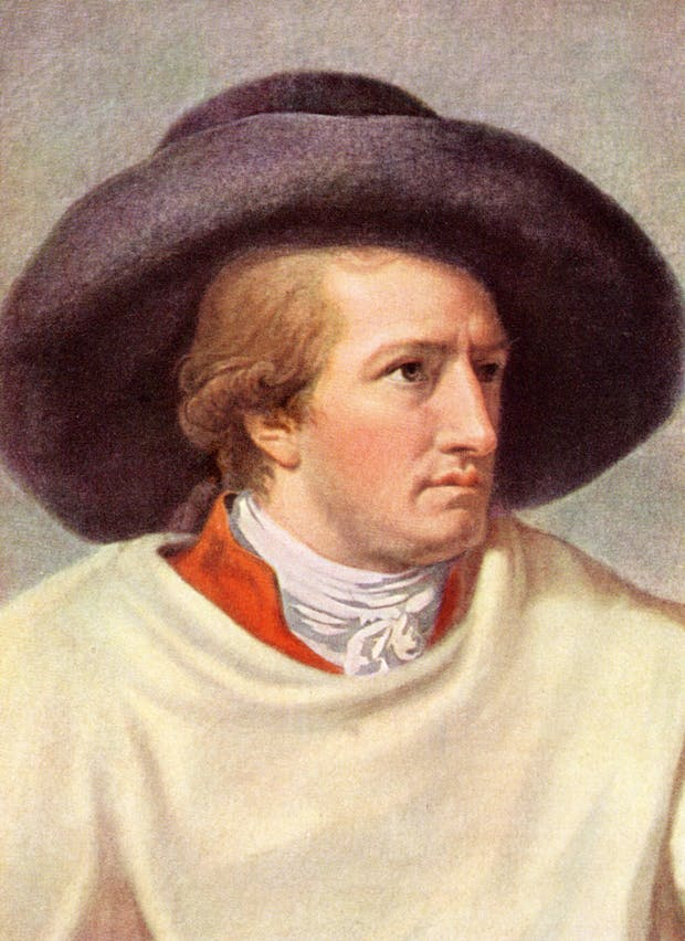 A romanticised portrait of Goethe by J.H.W. Tischbein