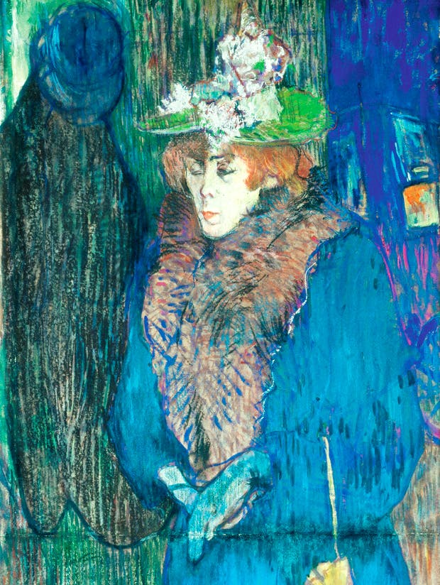 'Jane Avril at  the Moulin Rouge' (1892) by Toulouse-Lautrec