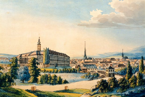A panorama of Weimar in its heyday