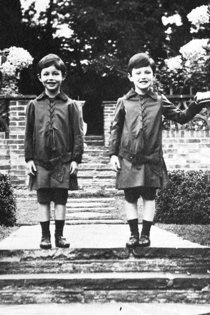 Peter and Ian Fleming as boys at Joyce Grove (Peter is on the left)