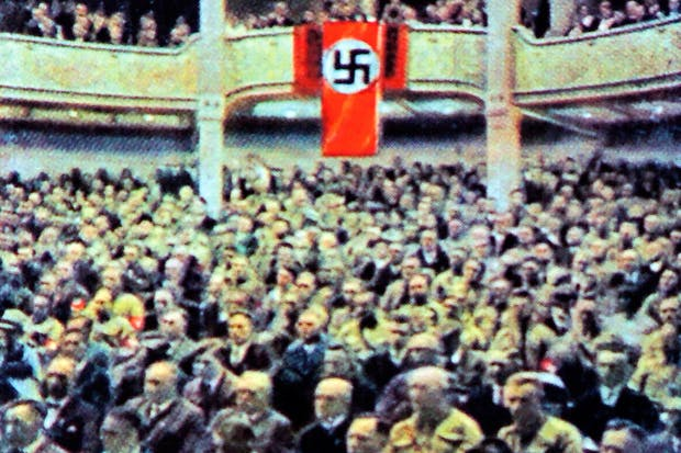 A Nazi party rally at the National Theatre in 1929